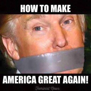 Trump with Gag
