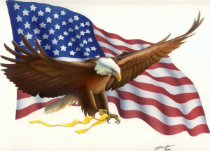 Flag Waving + Eagle