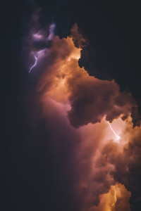 Lightening in Clouds