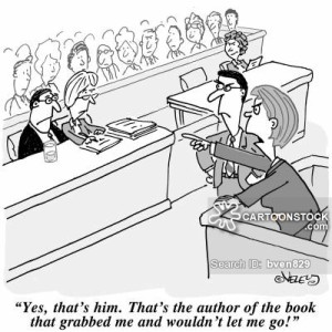 'Yes, that's him. That's the author of the book that grabbed me and wouldn't let go!'